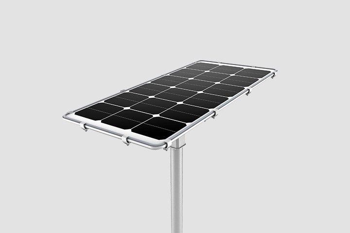 Lampione led lm con pannello fotovoltaico dison