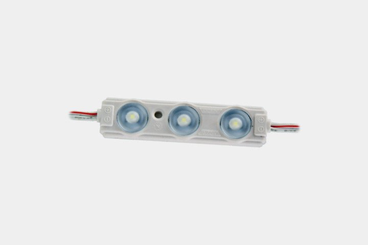 Modulo 3 LED 2835 con lente 165°